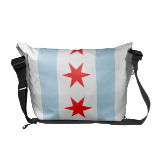 Chicago Flag Rickshaw Messenger Bag