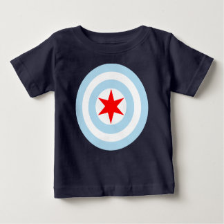 Chicago Flag Shield Baby T-Shirt