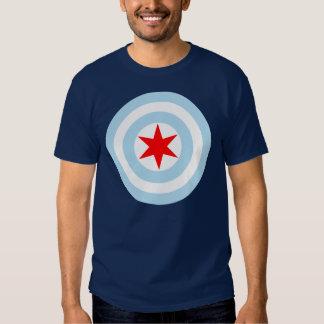 Chicago Flag Shield T Shirt