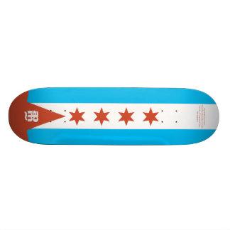 Chicago Flag Skateboard