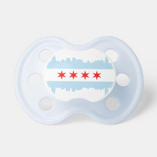 Chicago Flag Skyline Pacifier