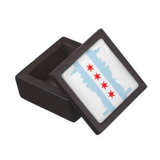 Chicago Flag Skyline Planet Jill Premium Gift Box