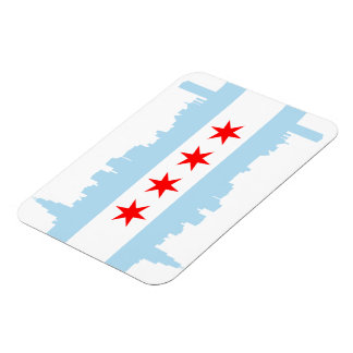 Chicago Flag Skyline Premium Flex Magnets