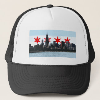 Chicago Flag Skyline Trucker Hat