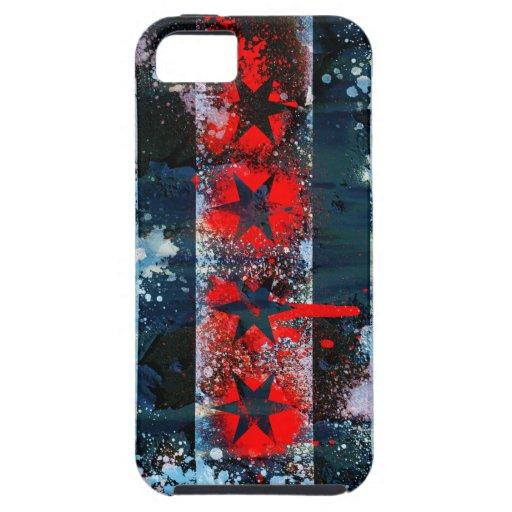 Chicago flag spray paint iphone 5 cases zazzle for Spray paint iphone case