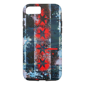 Chicago Flag Spray Paint iPhone 8/7 Case