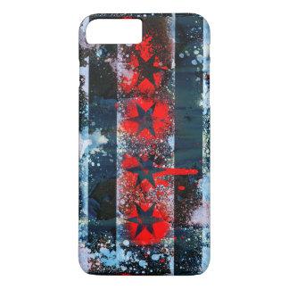 Chicago Flag Spray Paint iPhone 8 Plus/7 Plus Case