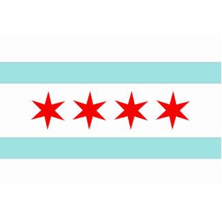 Chicago Flag Statuette