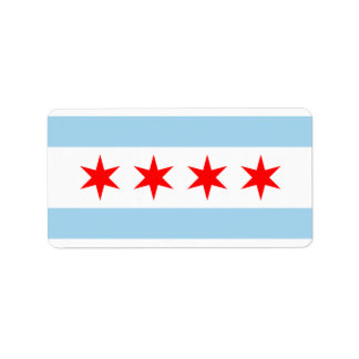 CHICAGO FLAG STICKERS! PERSONALIZED ADDRESS LABELS