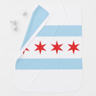 Chicago Flag Stroller Blanket