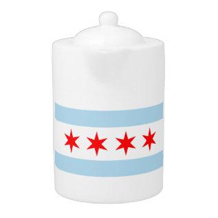 Chicago Flag Teapot! Teapot at Zazzle