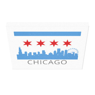 Chicago Flag: The Windy City Canvas Print