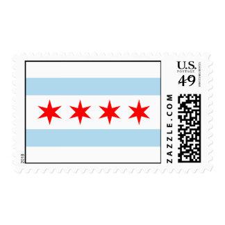 Chicago Flag USA Postage Stamps!