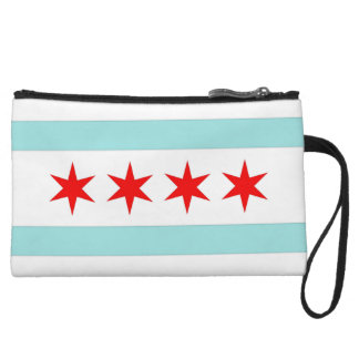Chicago Flag Wristlet Wallet