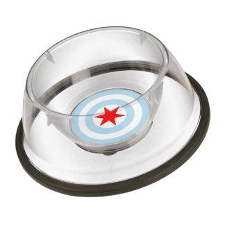 Chicago Flag Pet Bowl