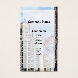 Chicago - Flags Along Michigan Avenue Business Card