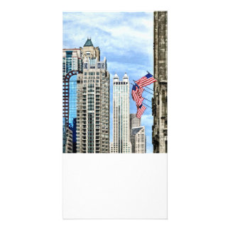Chicago - Flags Along Michigan Avenue Card