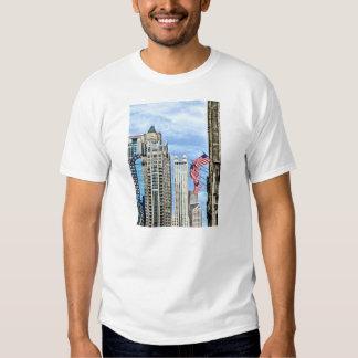 Chicago - Flags Along Michigan Avenue T Shirt