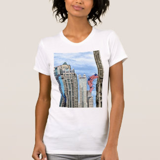 Chicago - Flags Along Michigan Avenue Tees