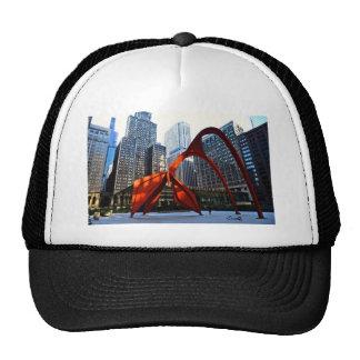 Chicago Flamingo Sculpture Trucker Hat