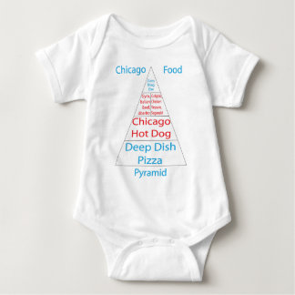 Chicago Food Pyramid Baby Bodysuit