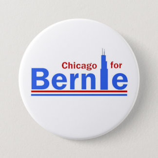 Chicago for Bernie Pinback Button
