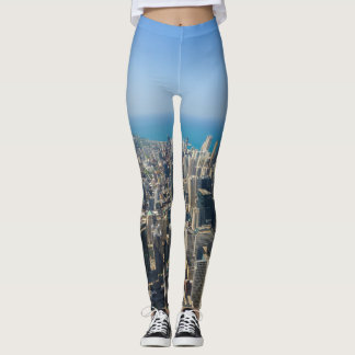 Chicago From Above Leggings
