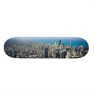 Chicago From Above Skateboard Deck