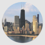 Chicago from Lake Shore Drive Round Stickers