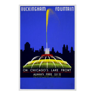 Chicago Fuente de Buckingham Posters