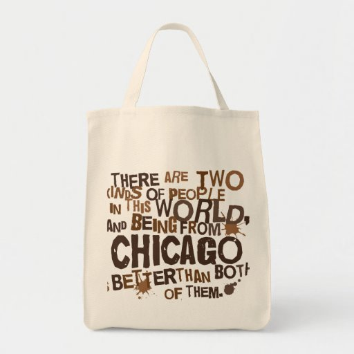 Chicago (Funny) Gift Canvas Bags