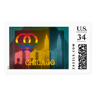 Chicago Gay Pride Lesbian 1930's Wrigley Building Postage