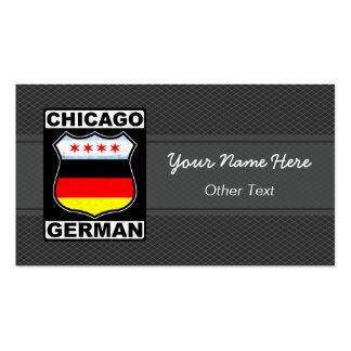 Chicago German American Custom Business Cards