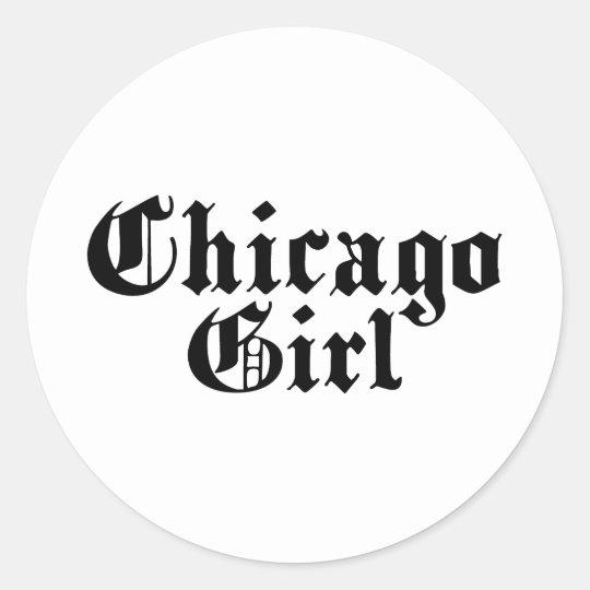 Chicago Girl Classic Round Sticker