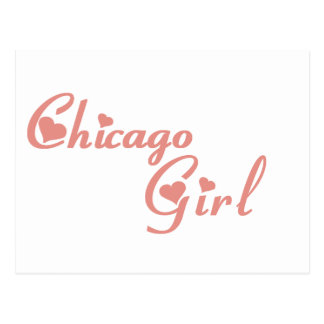 Chicago Girl tee shirts Post Card