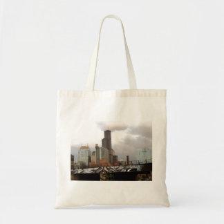Chicago Graffiti Skyline Tote Bag