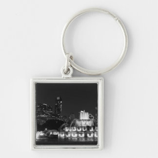 Chicago Grant Park Grayscale Keychain
