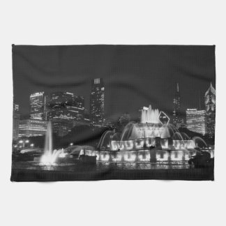Chicago Grant Park Grayscale Kitchen Towel