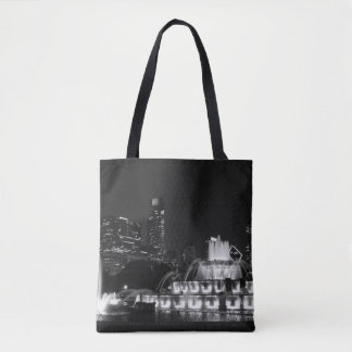 Chicago Grant Park Grayscale Tote Bag