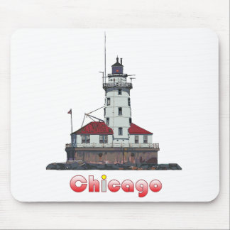 Chicago Harbor Light Mouse Pad