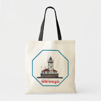 Chicago Harbor Light Tote Bags