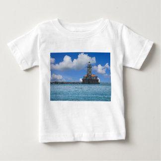 Chicago Harbor Lighthouse Painterly Baby T-Shirt