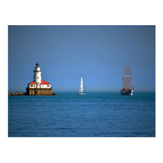 Chicago Harbor Post Card