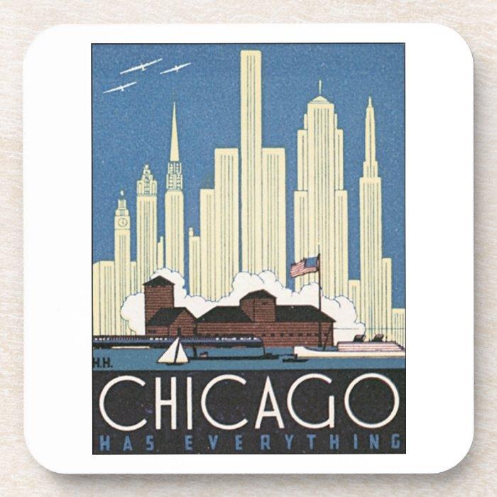 Chicago Has Everything Beverage Coaster