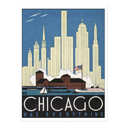 Chicago Has Everything Post Card