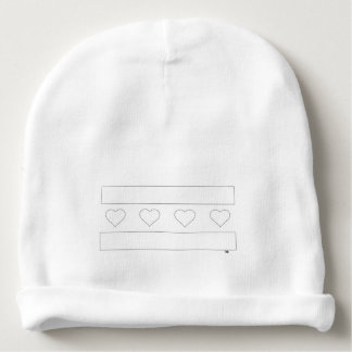 Chicago Heart Flag - Pencil Outline Baby Beanie