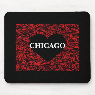 Chicago Heart Mouse Pad