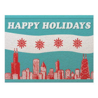Chicago Holiday Post Card
