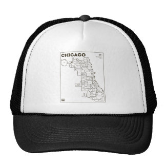 Chicago 'Hoods Map Bold Star Trucker Hat