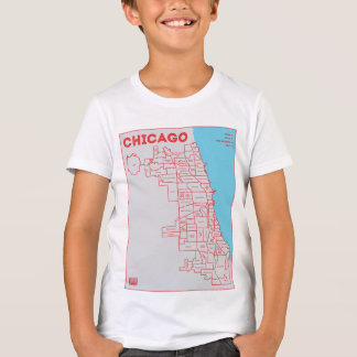 Chicago 'Hoods Map in Color Bold Star Kid's Gear T-Shirt